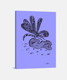 libélula, lona horizontal 3: 4 - (30 x 40 cm)