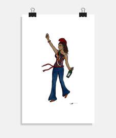 libertad guiando a la gente - poster