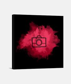 Lienzo - Camera Watercolor Red (Black)