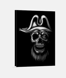 lienzo - piratas del cráneo blancos