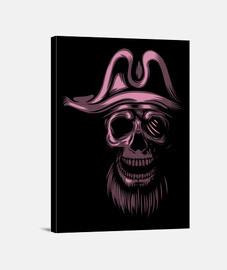 lienzo - piratas rosados del cráneo