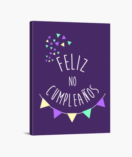 Lienzo Alicia Feliz no cumpleaños