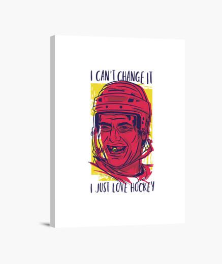 Lienzo amante del hockey divertido