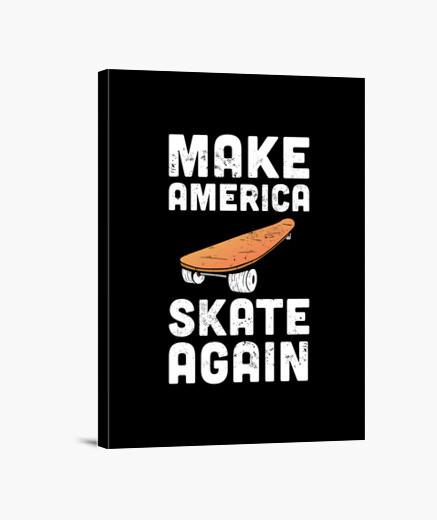 Lienzo América estaca skatebarding usa...