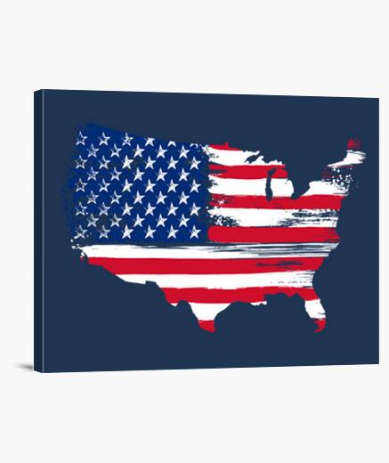 Lienzo American silhouette