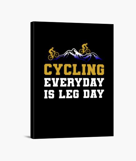 Lienzo andar en bicicleta todos los días...