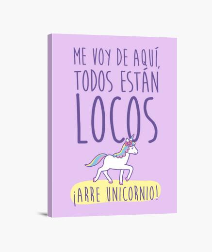 Lienzo Arre Unicornio