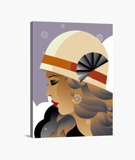 Lienzo Art Deco Ilustraciones Retro Vintage