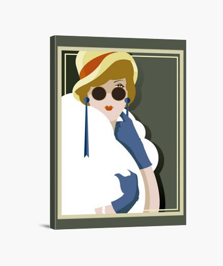 Lienzo Art Deco Ilustraciones Vintage