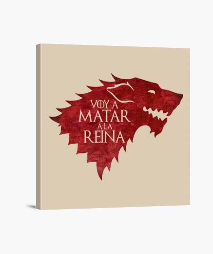 Lienzo Arya Stark el norte nunca olvida