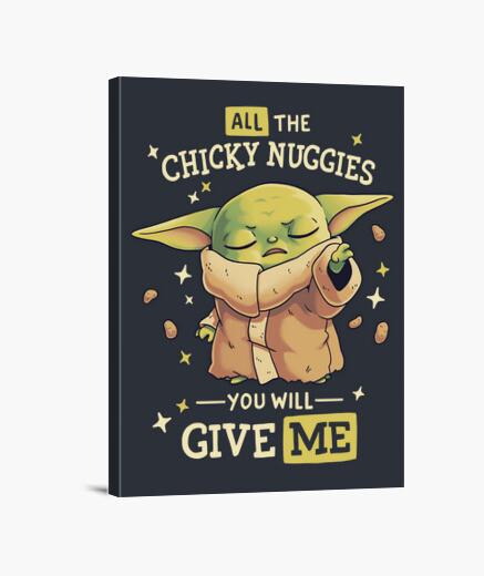 Lienzo Baby Yoda Mandalorian Chicky Nuggies