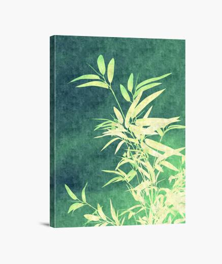 Lienzo bambú verde