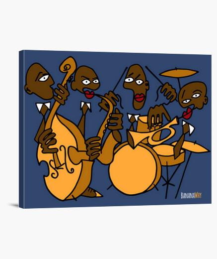 Lienzo Banana Jazz Band