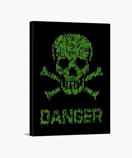 Lienzo Binary danger alert