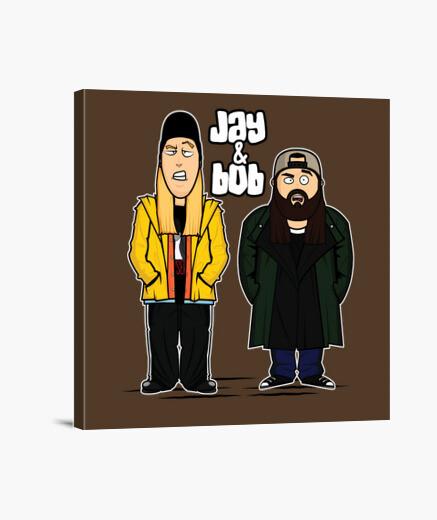 Lienzo bob & jay