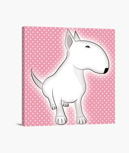 Lienzo bull terrier para niña