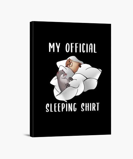Lienzo camisa de dormir con dos nutrias...