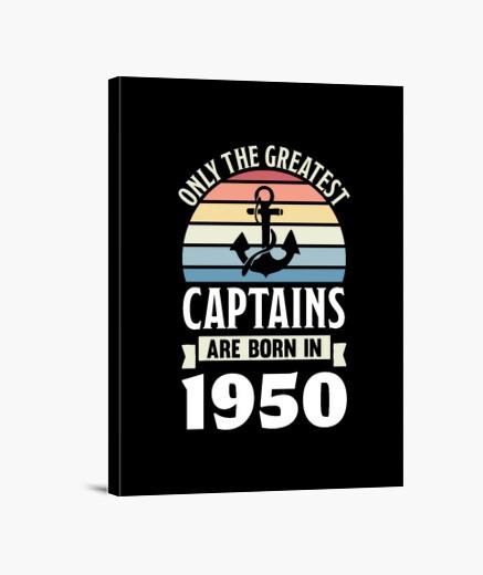 Lienzo Capitán de navegación nacido en...