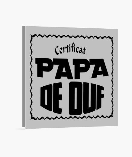 Lienzo certificado de papi