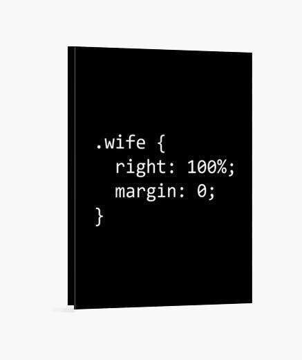 Lienzo código de esposa