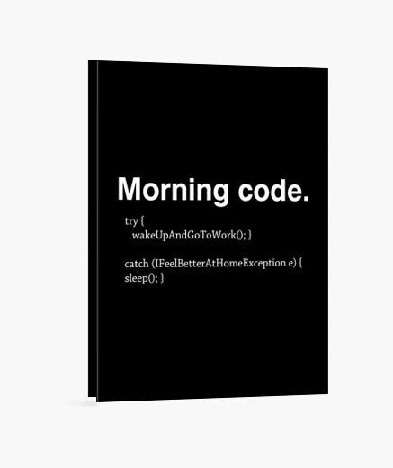 Lienzo código de la mañana