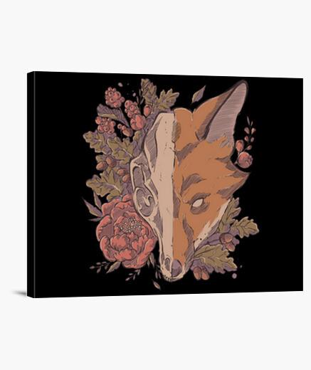 Lienzo cráneo de zorro de otoño