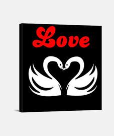 Lienzo Cuadrado 1:1 - (40 x 40 cm) love