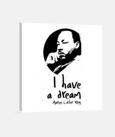 Lienzo Cuadrado I Have a Dream Martin Luther King