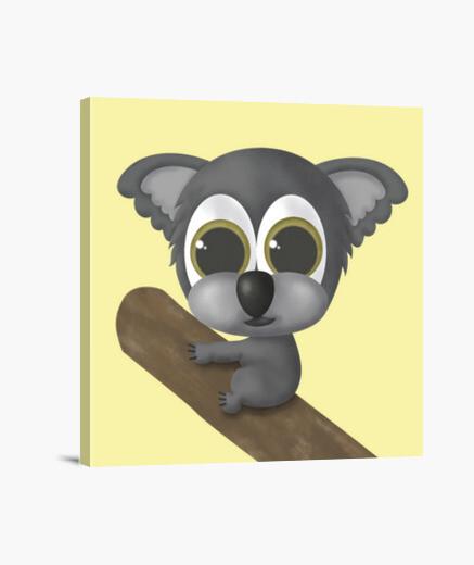 Lienzo cuadrado Koala
