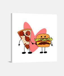 Lienzo Cuadrado Love Food 40 x 40 cm