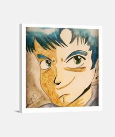 Lienzo Cuadrado Manga boy