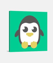 Lienzo cuadrado Pingüino