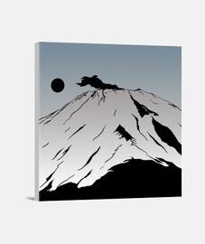 "Lienzo Cuadrado ""Monte Fuji"""