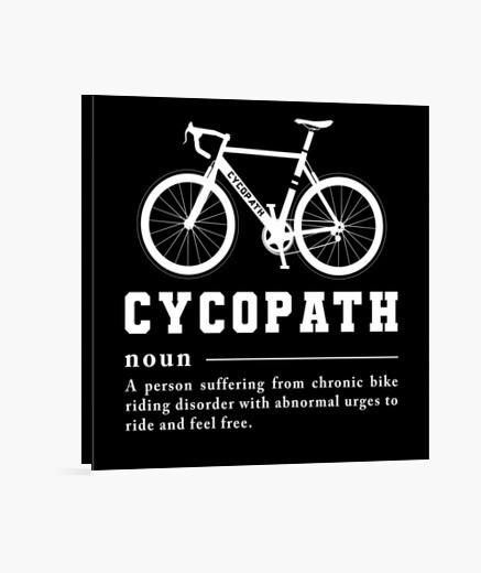 Lienzo cycopath divertido ciclismo...