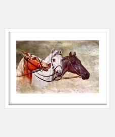 Lienzo de caballos