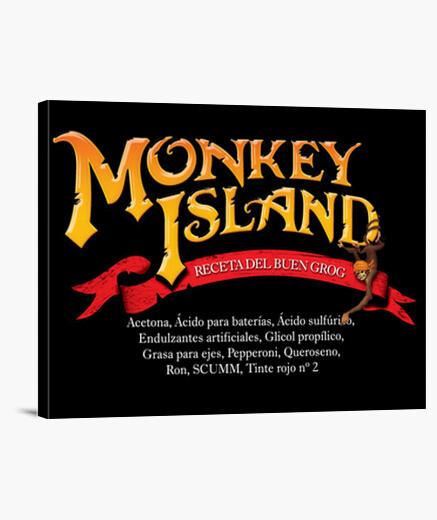 Lienzo decoración Monkey island