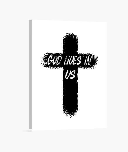 Lienzo Dios vive en nosotros