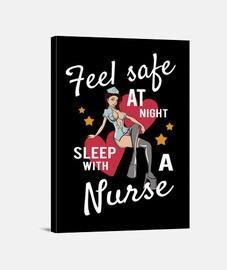 Lienzo Divertido Retro Enfermera Sexy Vintage Pinup