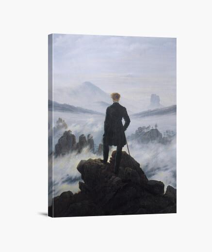 Lienzo el caminante sobre el mar de nubes...