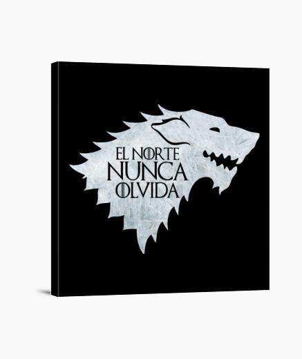 Lienzo El norte nunca olvida. Casa Stark.