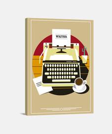 Lienzo Escritores Escritor Retro Vintage