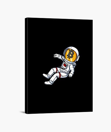 Lienzo espacio astronauta bitcoin