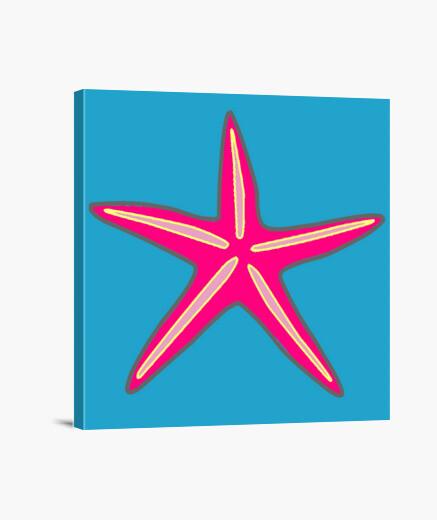 Lienzo estrella de mar magenta