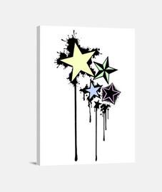 Lienzo Estrellas Vertical 3:4 - (30 x 40 cm)