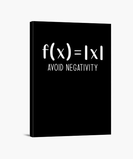 Lienzo evitar la negatividad