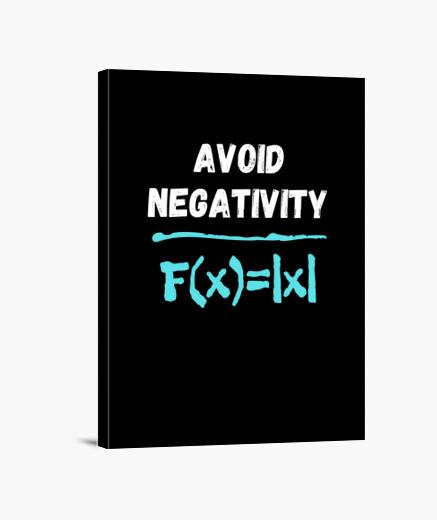 Lienzo evitar la negatividad fórmula...