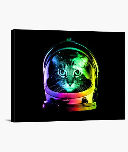 Lienzo gato astronauta