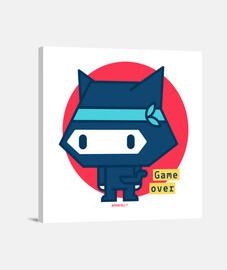 Lienzo Gato ninja (varios tamaños y formatos)