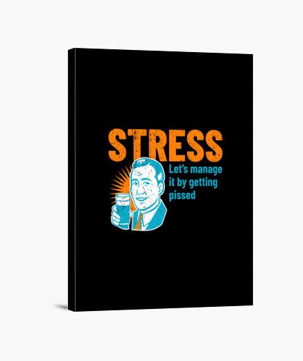 Lienzo gestión del estrés de la cerveza