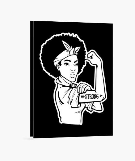 Lienzo Girl Power Strong Woman Motivación